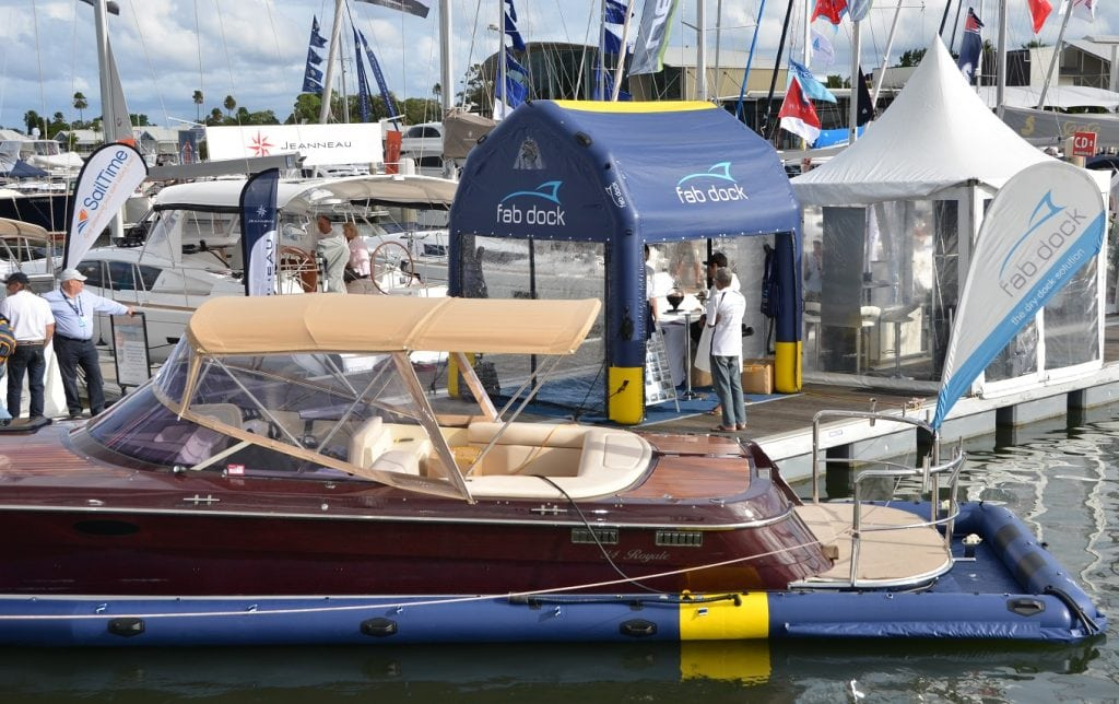 FAB Dock at boat show